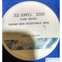 Pure Nickel  Wire A1. 32 AWG. Non Resistive. Genuine Lighting Vapes