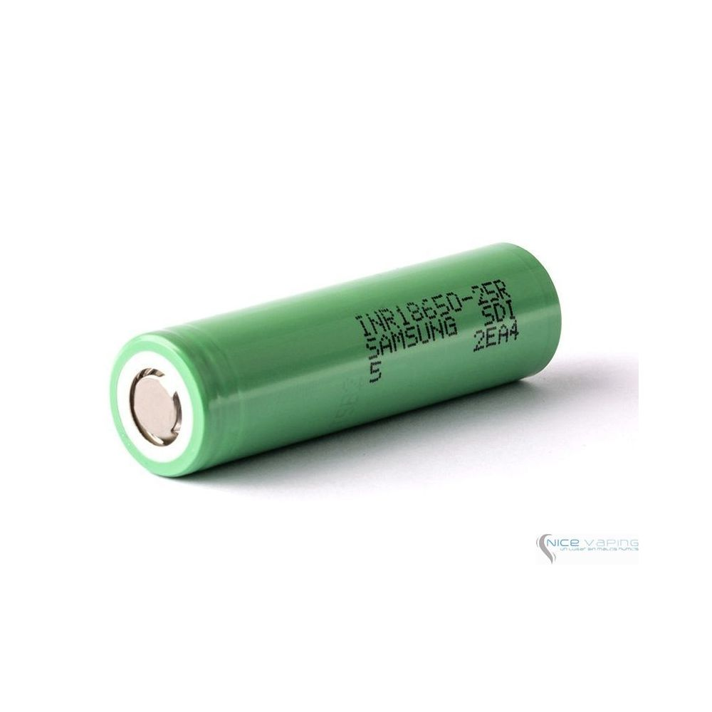 Samsung 18650-25R5 20A 2500mah flat top Green