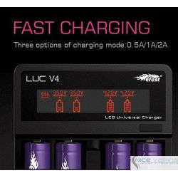 Efest LUC V4 4 Bay LCD & USB charger
