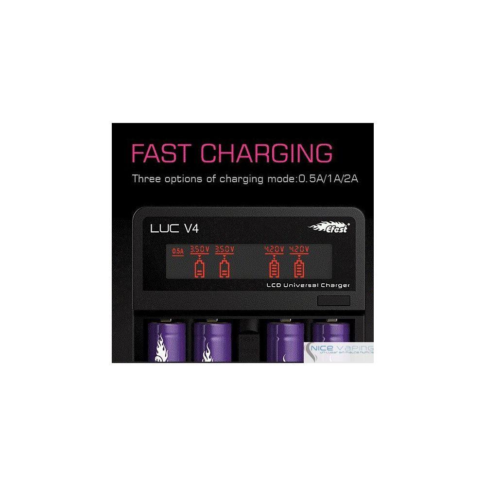 Efest LUC V4 4 Bahias LCD & Cargador USB