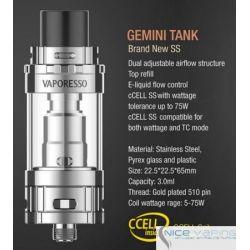 Gemini Ceramic Tank by Vaporesso - 3ml Control Flujo