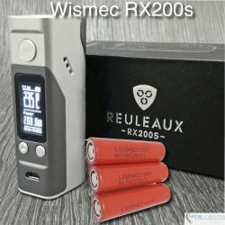 Reuleaux RX200-s Wismec 200W TC + 3 LG Batteries (Reds)