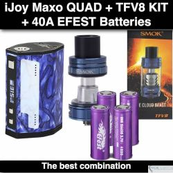 ijoy Maxo Quad 18650- 315 Watts, Azul + (4) baterias + TFV8 Big Baby Azul