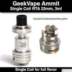 Geekvape Ammit RTA @3ml, 2mm SS