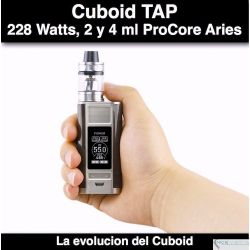 Joyetech Cuboid Tap with ProCore Aries - 2 y 4 ml, 228W, dual 18650