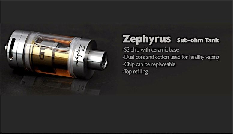 Zephyrus el mas puro sabor en un tanque de subohms