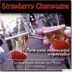 Champagne con Fresa