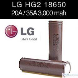 LG HG2 18650 20A, 3000mah, Flat