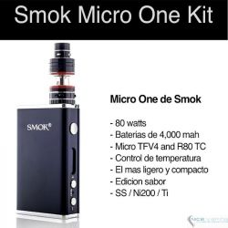 SMOK Micro ONE 80W- TC, 4000 mah, 2.5 & 3.5 ml