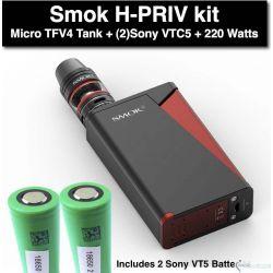 SMOK H-Priv 220W +  Sony VTC4 Batteries